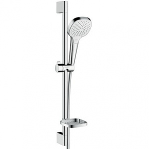 Croma Select E Vario Душовий набір 0,65 м з мильницею Casetta білий хром HANSGROHE 26586400