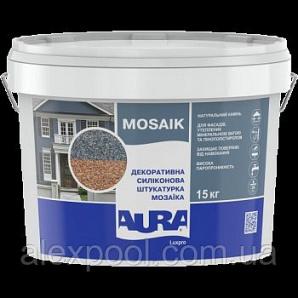 Aura Luxpro Mosaik M15 зерно 1,5 мм 15 кг Декоративна силіконова штукатурка мозаїка