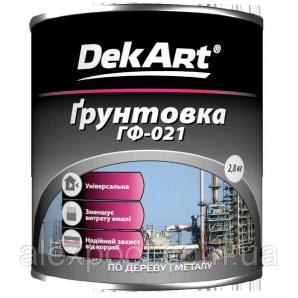DekArt Грунтовка ГФ-021 Сірий 12 кг алкідна