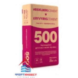 Цемент ПЦ-500-Н ХайдельбергЦемент 25 кг