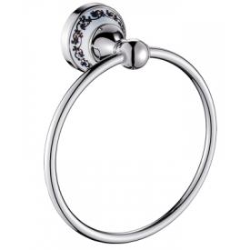 Держатель для полотенец настенный HI-NON кольцо серебро