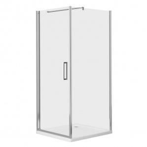 RUDAS душова кабіна квадратна 90x90x205 см піддон PUF 5 см з сифоном орні скло ліва EGER 599-001/L (3 коробки)