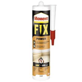 МОМЕНТ FIX Power 400г Монтажный клей (Жидкие гвозди белые)