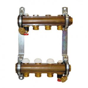 Колектор для теплої підлоги Herz G 3/4 на 4 контури без витратомірів 1853104