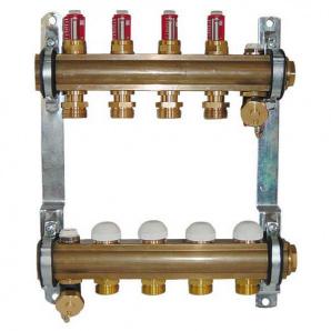 Колектор для теплої підлоги Herz з витратомірами G 3/4 на 12 контурів 1853212