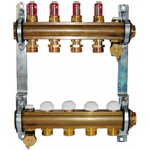 Колектор для теплої підлоги Herz з витратомірами G 3/4 на 7 контурів 1853207