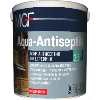 Лазур-антисептик MGF Aqua-Antiseptik безбарвний 2,5 л