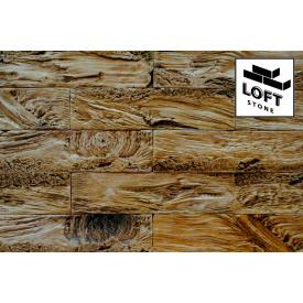 Декоративний цегла Кедровий скол Жовтий - бетон 60х245х10 мм