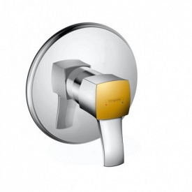 Metropol Classic Смеситель для душа однорычажный с рычаговой рукояткой СМ хром под золото HANSGROHE 31365090