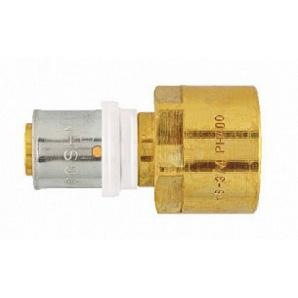 З'єднувач з внутр різьбленням з накидною гайкою 20х3/4 press Herz P702041