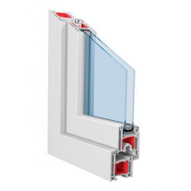 Металлопластиковая дверь трехкамерная профиль KBE 58 2000х900 мм белая