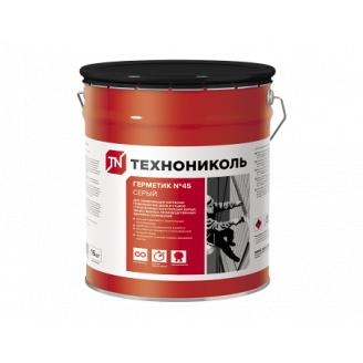 Герметик бутил-каучуковий Техноніколь №45 сірий, відро 16кг
