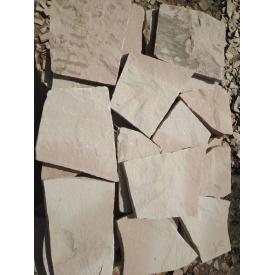 Плитка тротуарная каменная 3 см серо-розовая