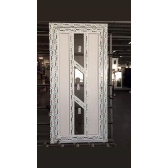Двери межкомнатные металлопластиковые профиль 3-хкамерный WDS Classik 900х2000 мм белые