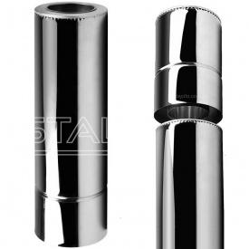 Труба з вермикулітом 1 м нерж / нерж 150х220 мм 0,8 мм AISI 304