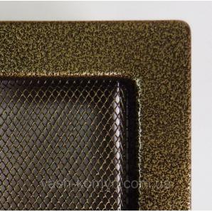 Решетка каминная крашенная 17х17 см черно-золотой