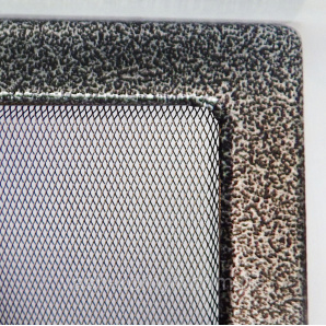 Решетка каминная крашеная 17 х30 см черно-серебрянный