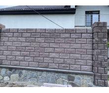 Парапет на паркан пресований широкий 500x400x55 мм сірий
