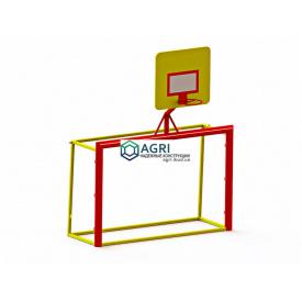 Ворота с баскетбольным кольцом 1,65х1,15х2,00 м