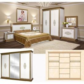 Спальня Мир мебели София Люкс 6д белый лак