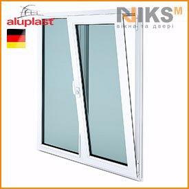Металопластикове вікно NIKS-M Aluplast IDEAL 4000 1300х1400 мм AXOR