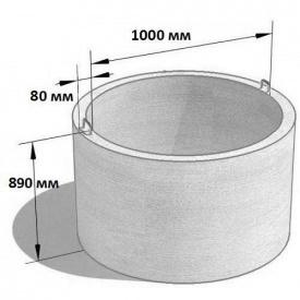 Колодязне кільце стінове КС 10.9 1180х890 мм