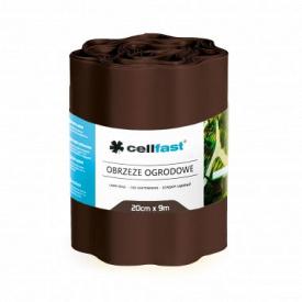 Бордюр городньо-газонний CellFast коричневий 200x9000