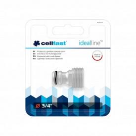 """Адаптер із зовнішньою нарізкою CellFast IDEAL LINE™ PLUS ABS** блістер 3/4"""""""