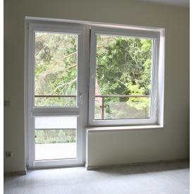 Металопластикове вікно однокамерне з енергозбереженням KBE 70 мм з фурнітурою Axor