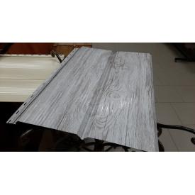 Металлический сайдинг Доска DZHUN steel 345/370 мм Белое дерево структурное