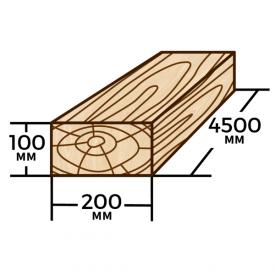 Брус Wood Delivery сосновый 200х100х4500 мм