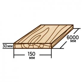 Доска обрезная Wood Delivery сосновая 150х30х6000 мм
