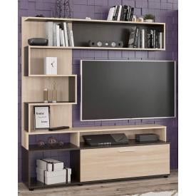 Стенка ТВ Мебель-Сервис Ферара 151х37х169 см Венге ясень