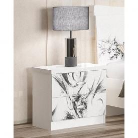 Тумба прикроватная Мебель-Сервис Ева 51х37х50 см белая