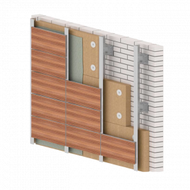 Вентильований фасад з HPL панелей 1525х1830 мм