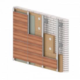 Вентильований фасад з HPL панелей 1830х1830 мм