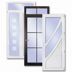 Вхідні двері металопластикові профіль OpenTeck горіх в масі