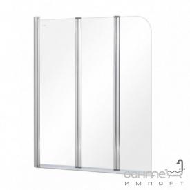 Шторка для ванны Besco Prime-3 121x140 прозрачное стекло