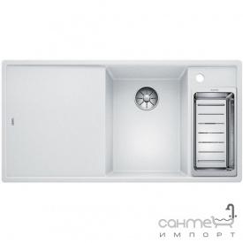 Кухонна мийка на півтори чаші з сушкою+дошка ясен Blanco Axia III 6 S-F Silgranit PuraDur права 523483 антрацит