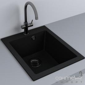 Кухонная мойка гранитная Fancy Marble Jersey 410 светло-черный