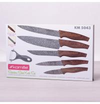 Набор ножей с овощечисткой 6 шт Kamille