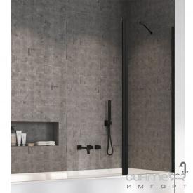 Шторка для ванны Radaway Nes Black PND 120 10009120-54-01R правосторонняя, черная/прозрачное стекло