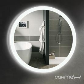 Зеркало для ванной комнаты с LED подсветкой Liberta Aqua 600x600 полотно диамант