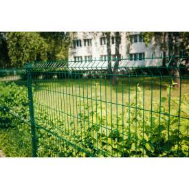 Секція огородження Сітка Захід 4/4 мм 1,23/2,5 м с ПП зелена