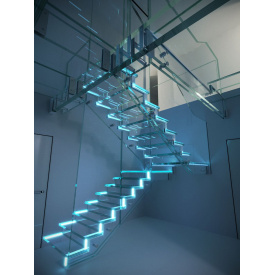 Скляні сходинки BMS praktik LED glass