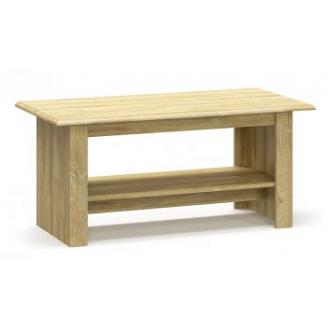 Стол журнальный Мебель-сервис Далия 120х55х59 см дуб золотой