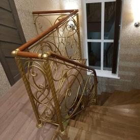 Ковані перила золотисті внутрішні Legran