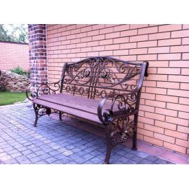 Кованая скамейка Legran коричневая 180 см