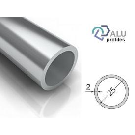 Труба кругла алюмінієва 6063Т5 25х2х5000 мм