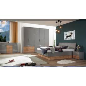 Спальня 5Д Линц серый шифер + дуб вотан Миро-Марк